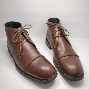 Johnston & Murphy | Brown Leather Chukka Boots 9